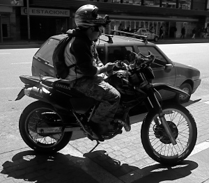 Moto-texter Av. Corrientes